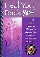 Heal Your Back Now - Nirvair Singh - Book